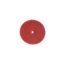 Refletor redondo vermelho 60 mm com furo
