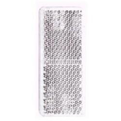 Refletor retangular branco 35x90 mm autocolante