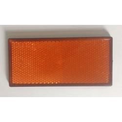 Refletor retangular amarelo 105x48 mm autocolante