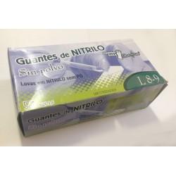 Luvas de nitrilo azul cx 100un