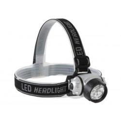 Lanterna cabeça 7 leds regulável