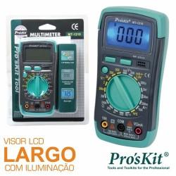 Multímetro digital 3 1/2 dígitos com iluminação Próskit