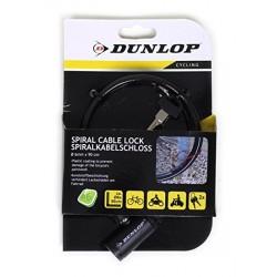 Cadeado espiral flexível c/fecho Dunlop