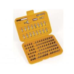 Jogo bits 1/4'' eletrónica 100un c/bolsa plástica