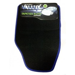 Jogo tapetes universal alcatifa - costura azul MOD 23 4pcs