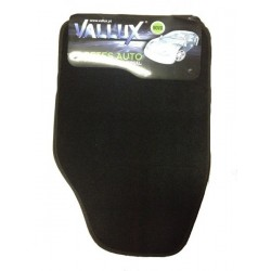 Jogo tapetes universal alcatifa - costura preta MOD 23 4pcs