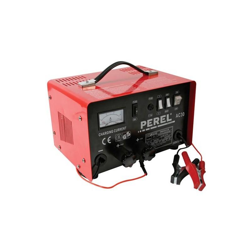 7ce4f4d5d7f Carregador bateria Perel 12/24V c/boost 20Ah