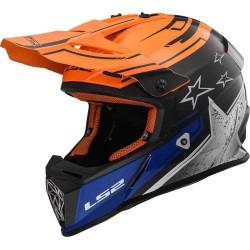 Capacete motocross Fast Core LS2 preto-laranja