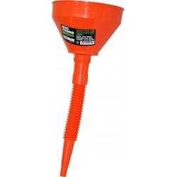 Funil plástico flexível 160 mm c/ponteira e rede