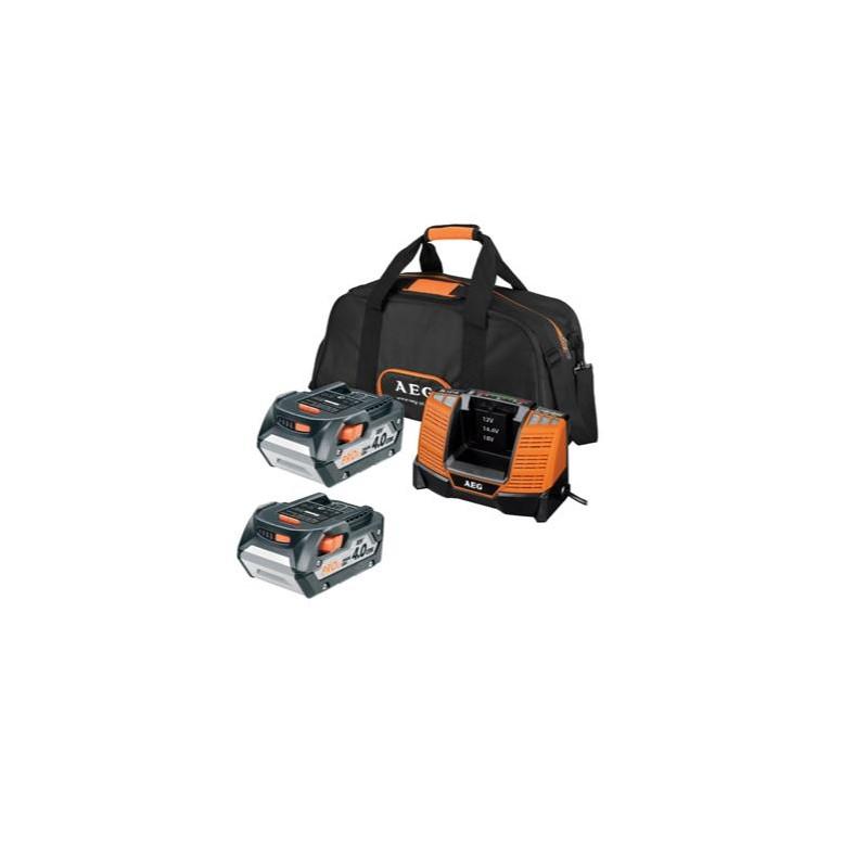 Kit 2 baterias 4Ah + carregador + bolsa