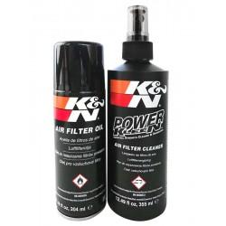 Kit limpeza filtros ar K&N óleo+spray