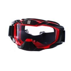 Óculos p/capacete motocross vermelhos