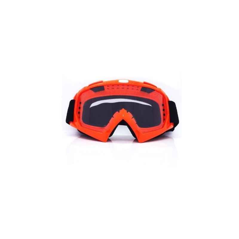 Óculos p/capacete motocross laranja