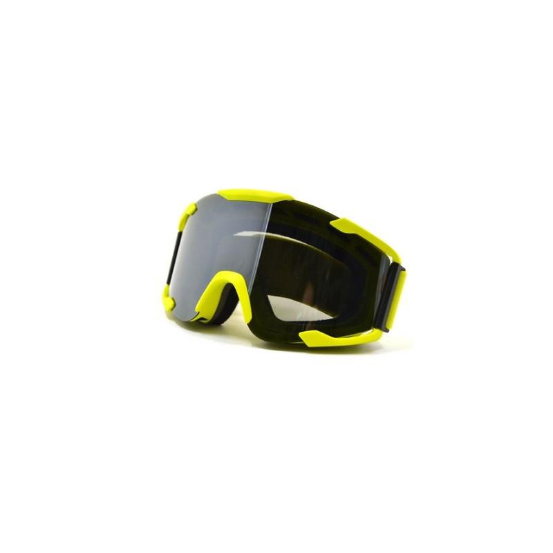 Óculos p/capacete motocross amarelos
