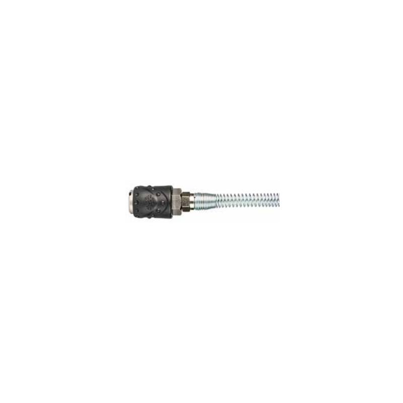 Acessório ar comprimido engate rápido fêmea - tubo 6mm c/mola