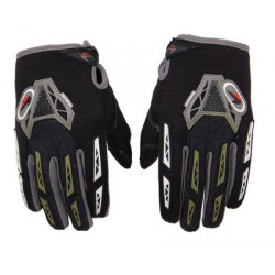 Luvas p/motocross cinza+preto+branco