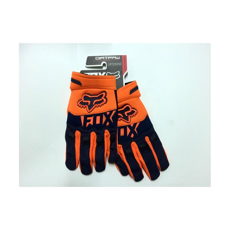 Luvas motocross Fox Dirtpaw laranja+azul escuro