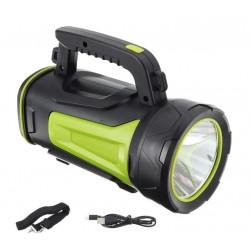 Lanterna led recarregável 3 funções + USB p/acumulador