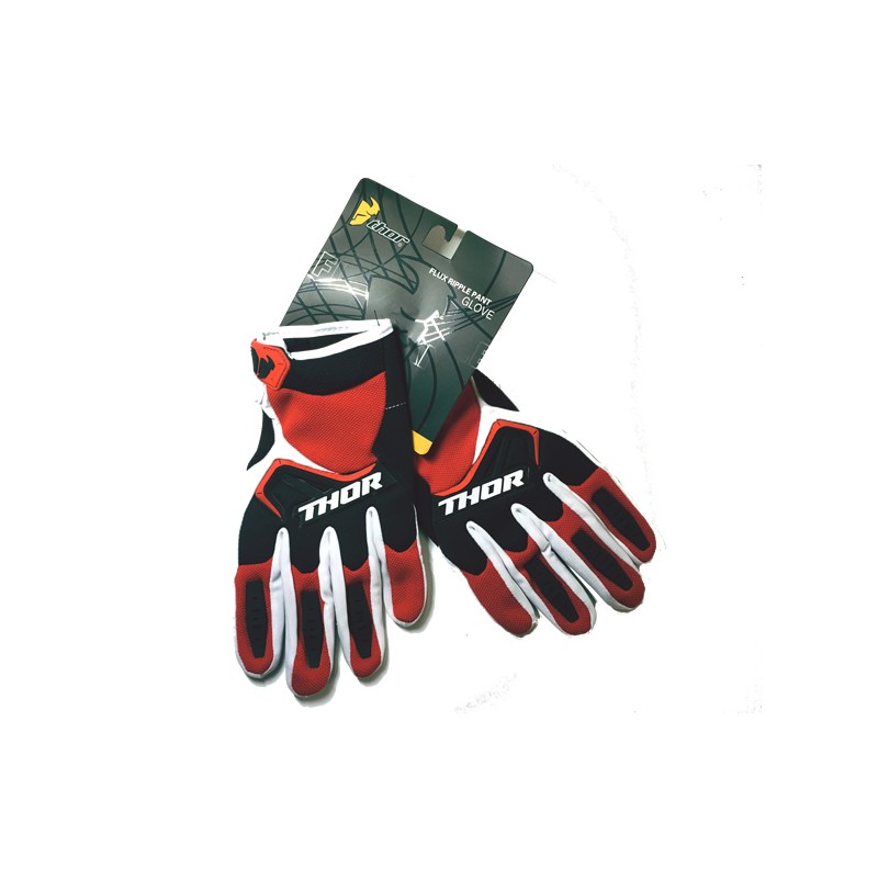 Luvas motocross thor vermelho-preto-branco