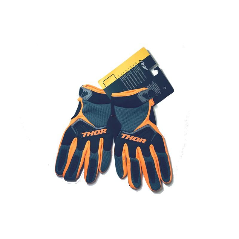Luvas motocross Thor laranja-preto-cinza