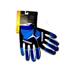 Luvas motocross Thor azul-branco-preto