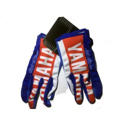 Luvas motocross yamaha azul-vermelho