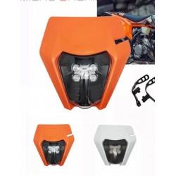 Farol KTM Led+Mica 12V 30W 6000K laranja