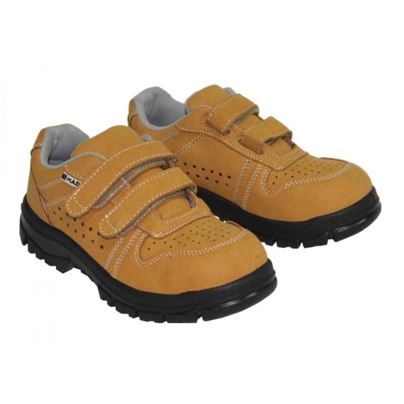 Sapato segurança Mader pele bege