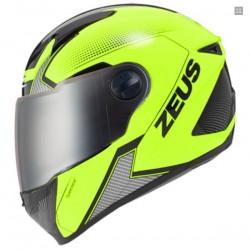Capacete moto Integr Zeus HZ811 Amarelo Fluorescente-Preto