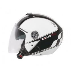 Capacete moto Zeus HZ202 óculos e viseira
