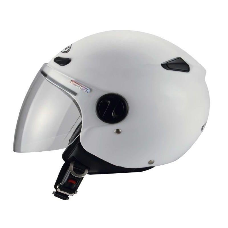 Capacete moto Zeus HZ190 com viseira Branco