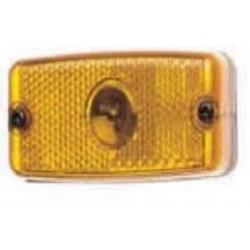 Farolim limitador retangular amarelo s/pendura