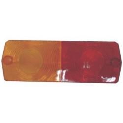 Vidro farolim trator universal vermelho-amarelo trás